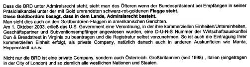 Firma BRD unter Admiralsrecht
