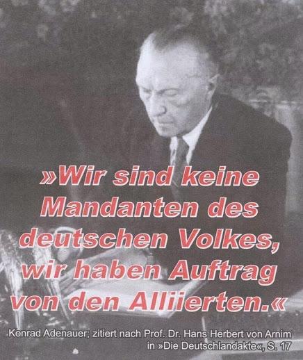 Was die Schwerverbrecherpartei CDU zum Thema Friedensvertrag mitteilen lässt....