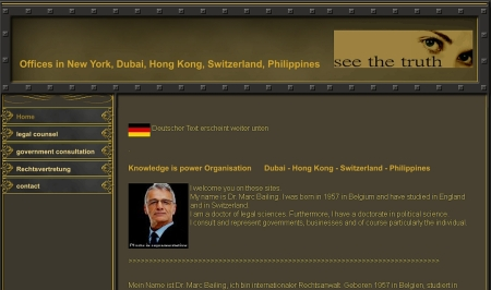 Ein internationaler Rechtsanwalt stellt sich vor