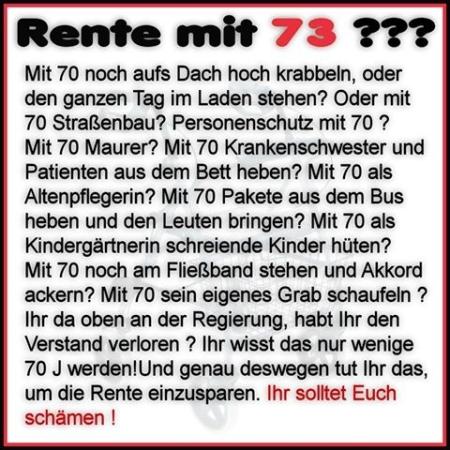Rente mit 73