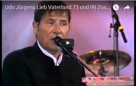 Udo Jürgens - Lieb Vaterland 73 und 98 Zusammenschnitt