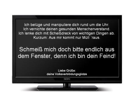 Fernseher Scheißdreck