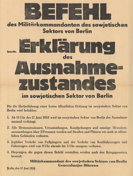 Jahrestag des Volksaufstands am 17. Juni 1953......
