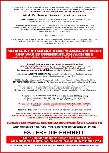 Zugegeben - Gesetze der vermeintlichen Bundesrepublik Deutschland sind ungültig!....