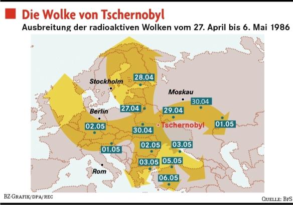 Wolke Tschernobyl Karte.Radioaktive Belastung In Bayern News Top Aktuell